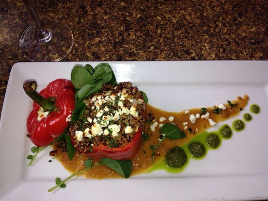 Lookout Cabin: Quinoa stuffed bell pepper