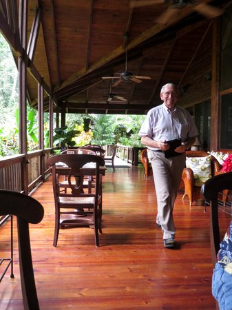 The Lodge and Spa at Pico Bonito: Arriving for lunch