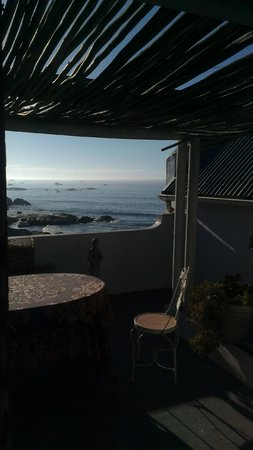 The Oystercatcher's Haven at Paternoster: Our private terrace