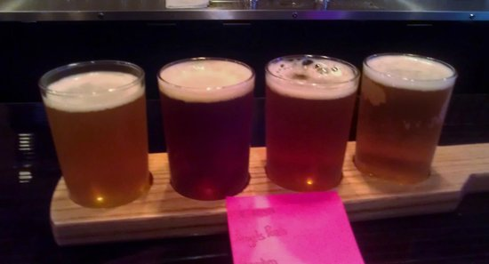 Pints Alehouse. : Sampler of four delicious beers