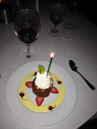 Irene's Cuisine : Chocolate Hazelnut with a vanilla crème anglaise
