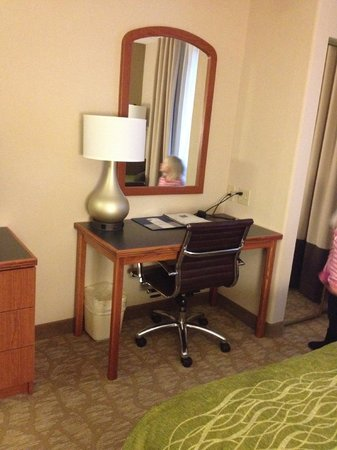 Comfort Inn & Suites : Desk area