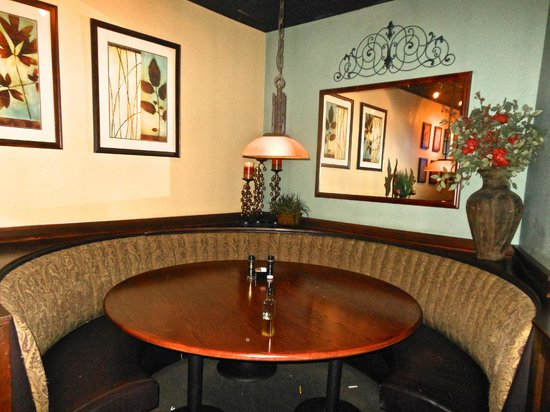 Connors Steak & Seafood: Corner Table