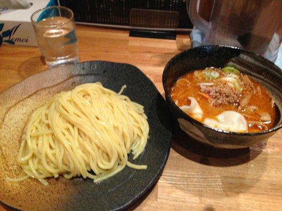 Tsukemenyayasubee: 麺は中盛り