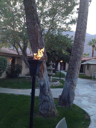 Warm Sands Villas: The torches