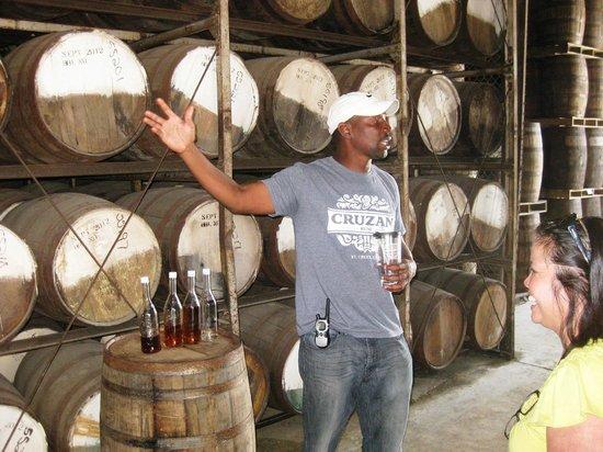Cruzan Rum Distillery: Norman explains the distillery process