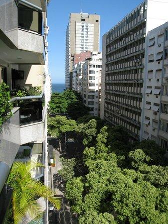 Promenade Princess Copacabana : View Down Rua Xavier Towards Copacabana Beach