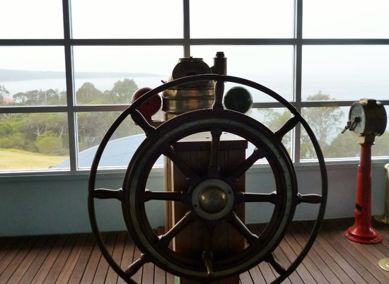 Killer Whale Museum: Ship's wheel