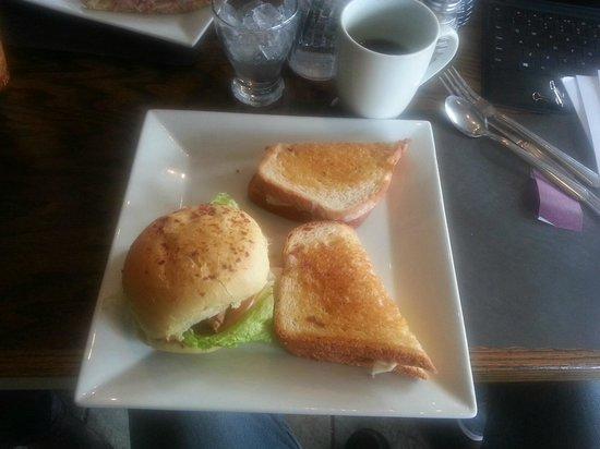 Harvest Cafe: 3 sandwich halves