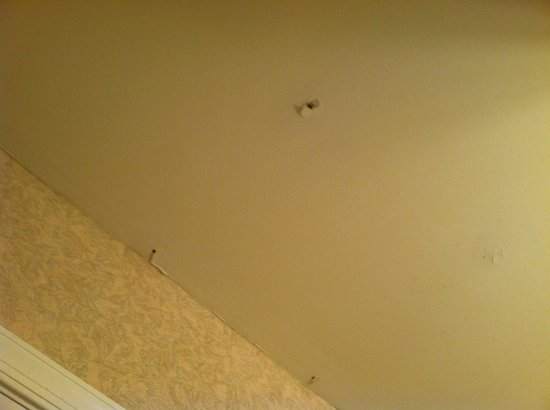 Villas at Tree Tops and Fairway: Holes in ceiling