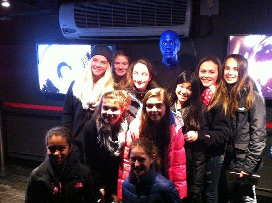 Blue Man Group : The teenie bop gang! Kenzie & her friends & soccer teammates!