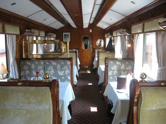 Tren de Hiram Bingham: Dining car