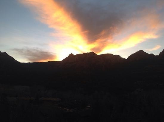 The Orchards Inn of Sedona: evening sunset