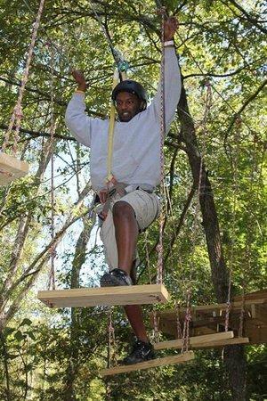 Daredevil Ziplines: The swings are challenging.