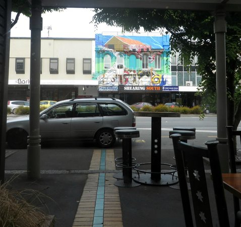 Speights Ale House: View of street