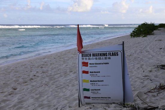 Agana, Mariana Islands : The Red flag was hung