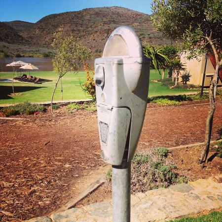 Madi-Madi Karoo Safari Lodge: I loved this old parking meter so much that I went to Knysna the day after we arrived and bought