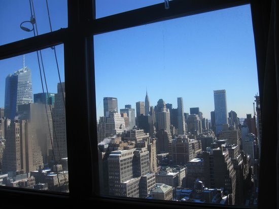The New Yorker A Wyndham Hotel: View From our Bed- Tower Suite 4009