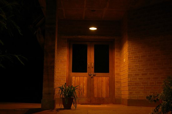 Our Native Village: Entrance to Conference room, Late night