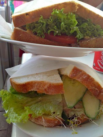 Playfair Cafe: Our sandwiches!