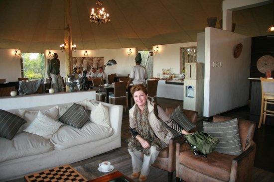 Sanctuary Stanley's Camp: Zonas comunes y comedor al fondo