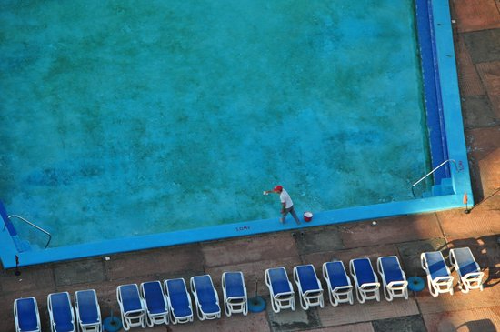 "Habana Riviera: ""Cleaning"" the pool in the morning..."