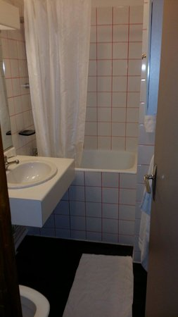 salle de bain avec micro baignoire et toilettes photo de best western le panorama le mont. Black Bedroom Furniture Sets. Home Design Ideas