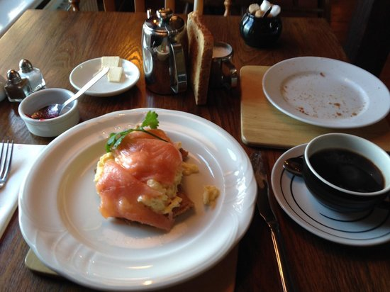 The Trooper: The Smoked Salmon and Scrambled eggs - Gorgeous!