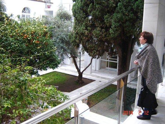 Hotel San Gil: Tuinzicht hotel