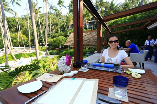 Four Seasons Resort Koh Samui Thailand : nice view from pla pla restaurant