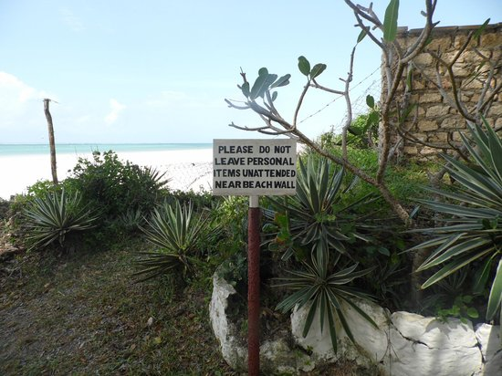 Diani Beachalets : funny sign