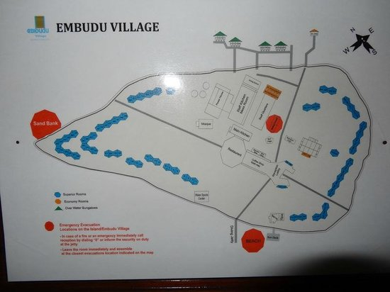 Embudu Village: carte île