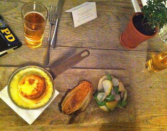 The Hare and Hounds: Twice baked cheese souffle