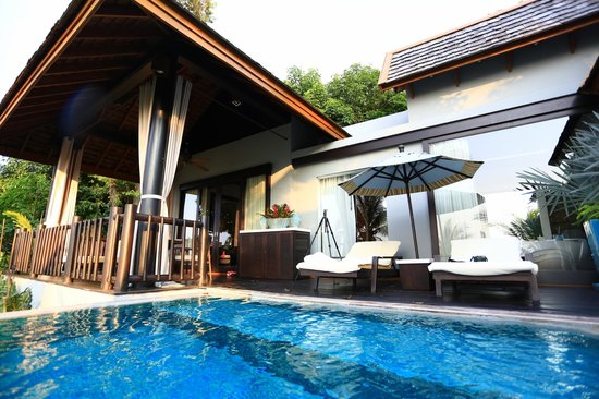 Four Seasons Resort Koh Samui Thailand: decently sized villa with partial sea view