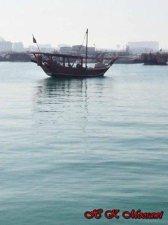 The Corniche: Boat at coast