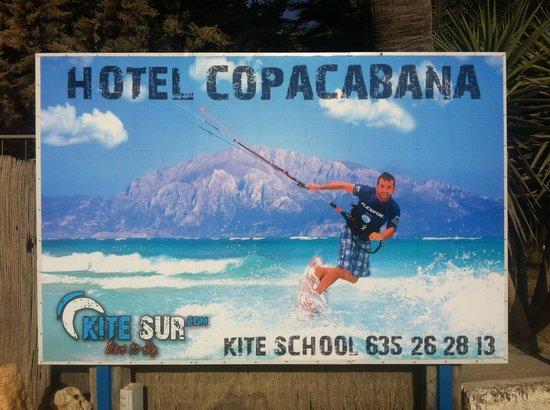 KiteSur: muy guapa la publicidad justo en frente de la mejor playa