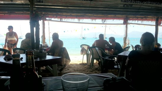 Beach Bar: Vue du restaurant
