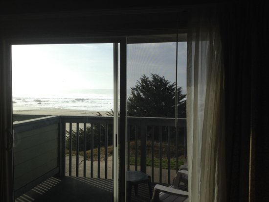 The Beachcomber Motel and Spa on the Beach: View from inside our room