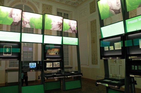 Fryderyk Chopin Museum: Музей Фредерика Шопена. Выставочный зал