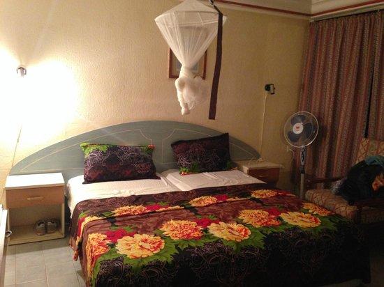 Badala Park: Het bed is wel prima (zonder het bed, was ik direct verkast naar een ander hotel)