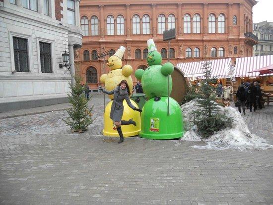 Neiburgs Hotel: На площади где ярмарка