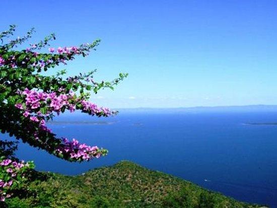 Lake Kariba: View from Kariba Heights to Zambia