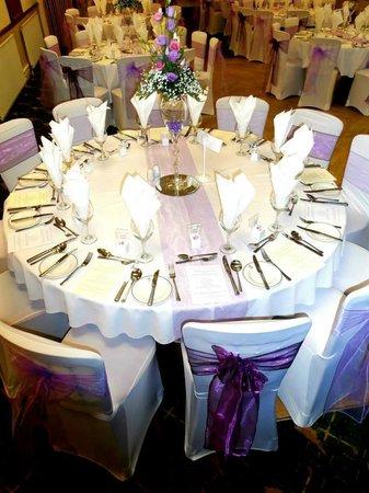 Table Set Up at Shipley Golf Club