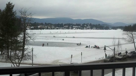 Hampton Inn & Suites Lake Placid: This was our view of Lake Placid from our king room with oversized balcony
