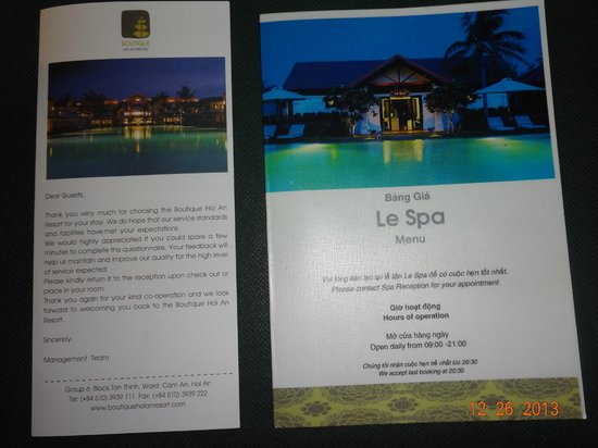 Boutique Hoi An Resort : depliant
