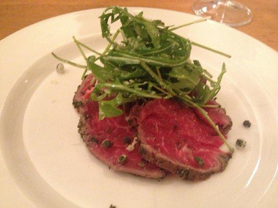 Nant Ddu Lodge Restaurant: Beef carpaccio