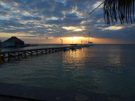 View from Paradise Villas' gate (beach)