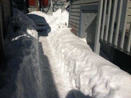 Villas at Tree Tops and Fairway: Walkway barely shoveled