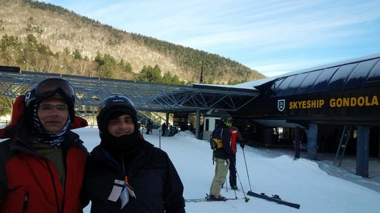 Killington Resort : ready to get on the Gondola after a long run