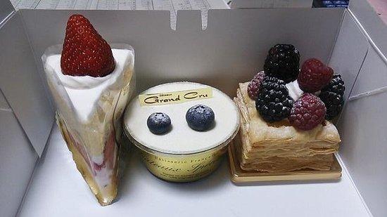 Grand Cru : 季節のショートケーキほか